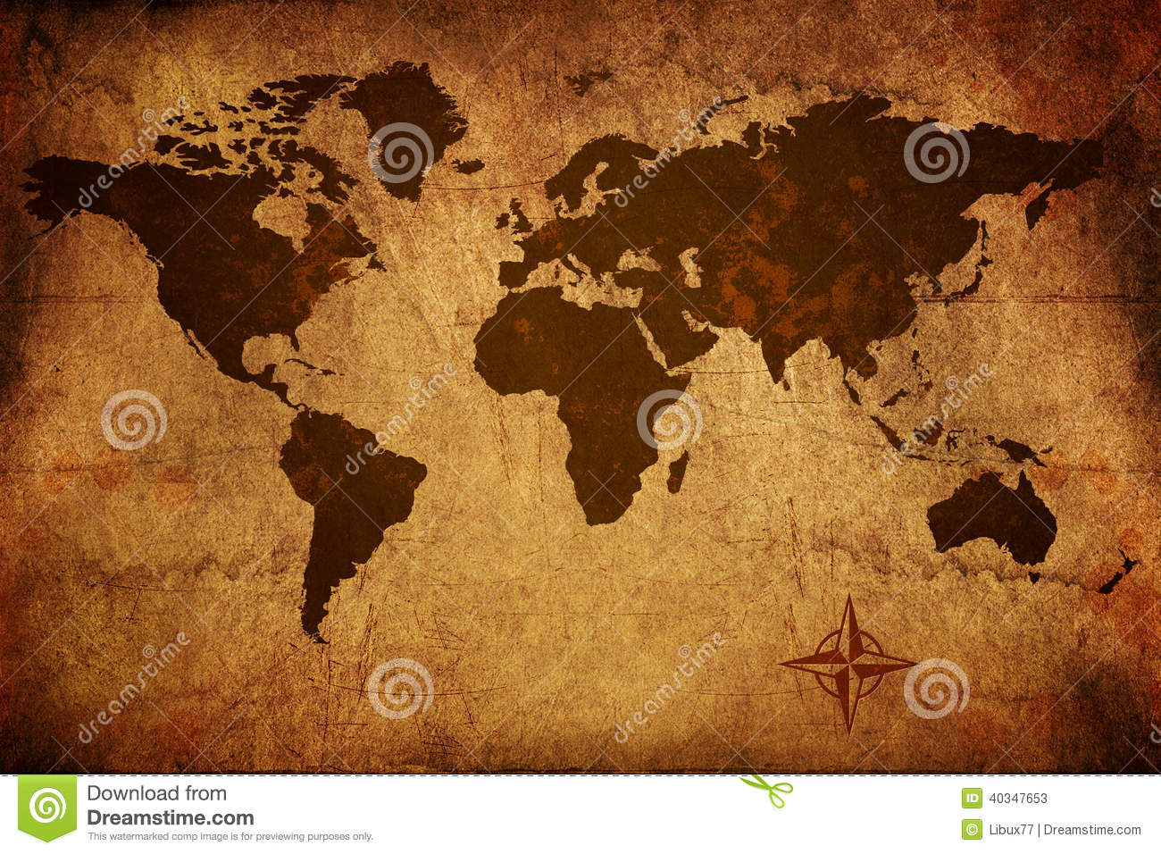 Old world map stock image image of victorian parchment 40347653 old world map gumiabroncs Image collections