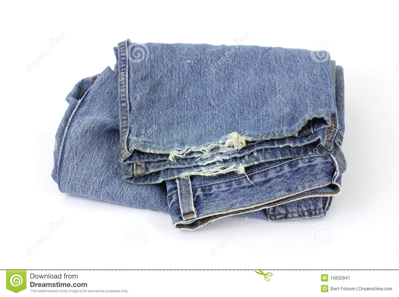 Old worn bluejeans