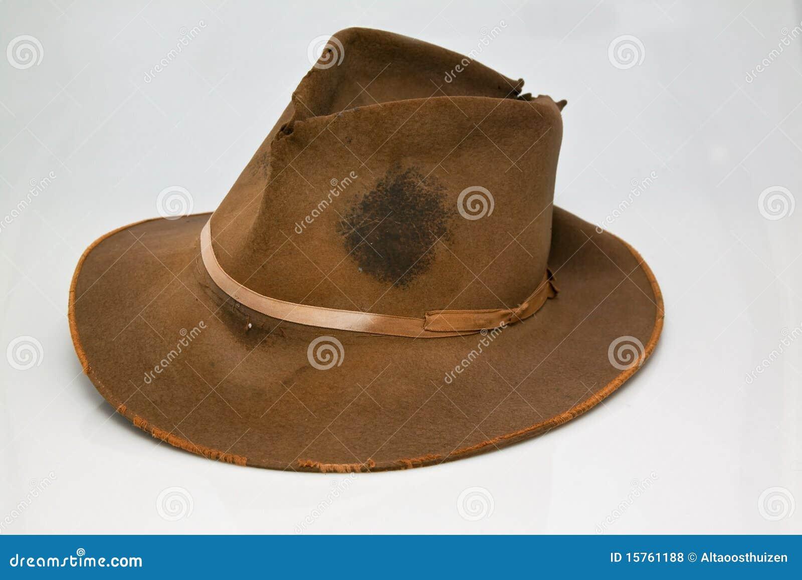Old, Worn Brown Hat Stock Photo. Image Of Brim, Rugged