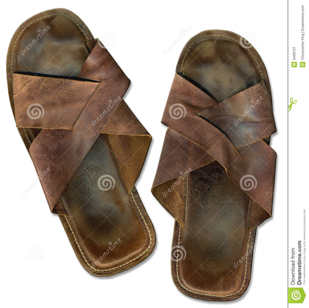 Royalty Free Stock Photography Old Worn Out Beach Sandals