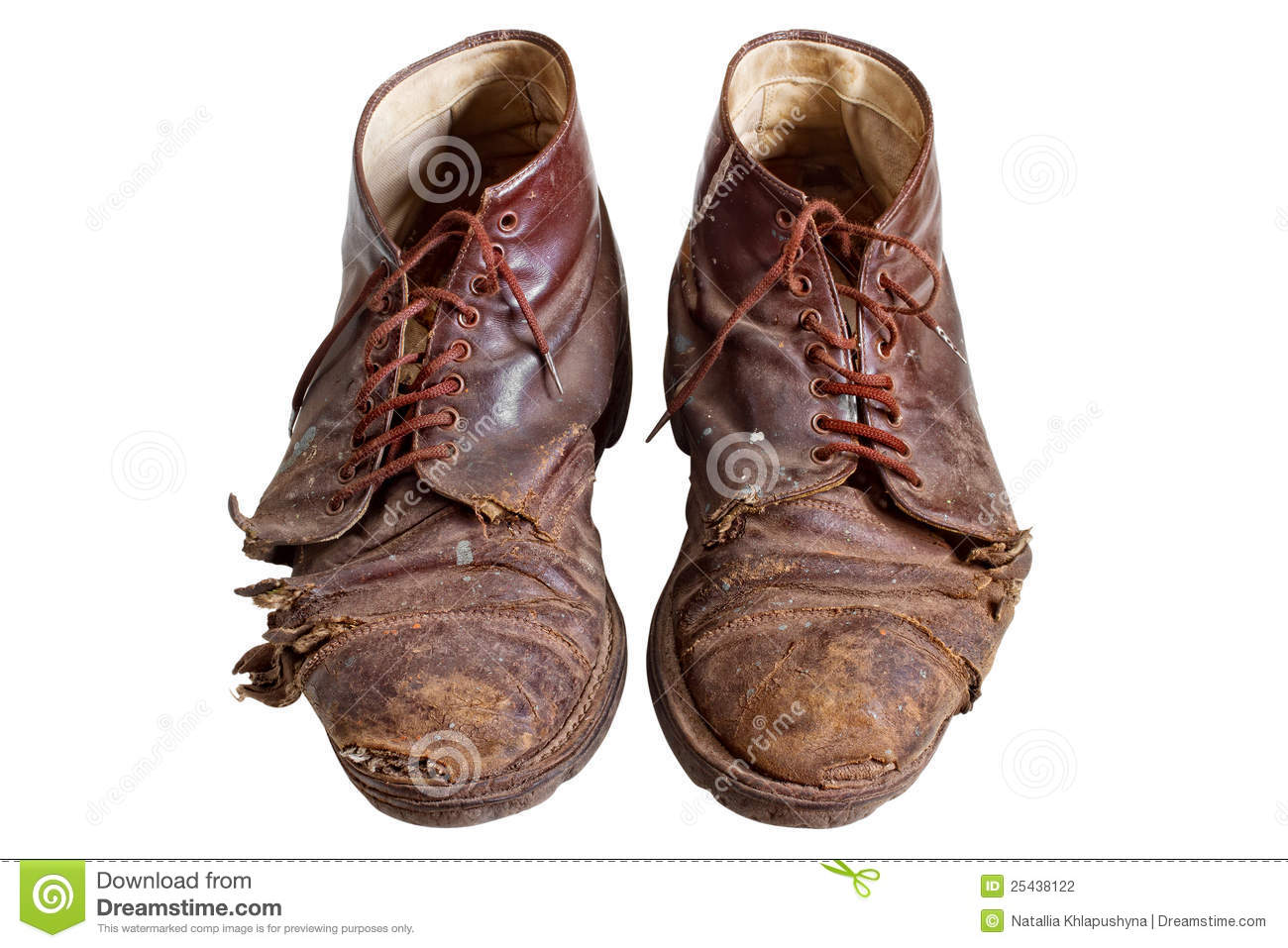 Old Worn Out Boots Isolated Stock Photo Image 25438122