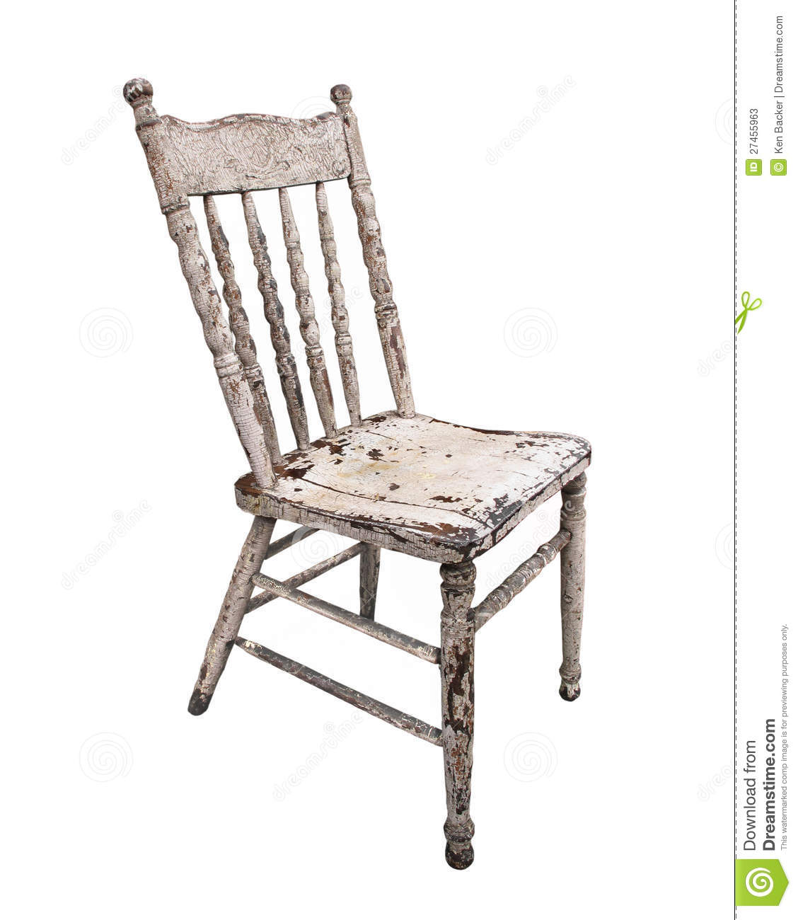 Old Worn Wooden Kitchen Chair Isolated Stock Photos Image: 27455963. Full resolution‎  portraiture, nominally Width 1128 Height 1300 pixels, portraiture with #86A724.