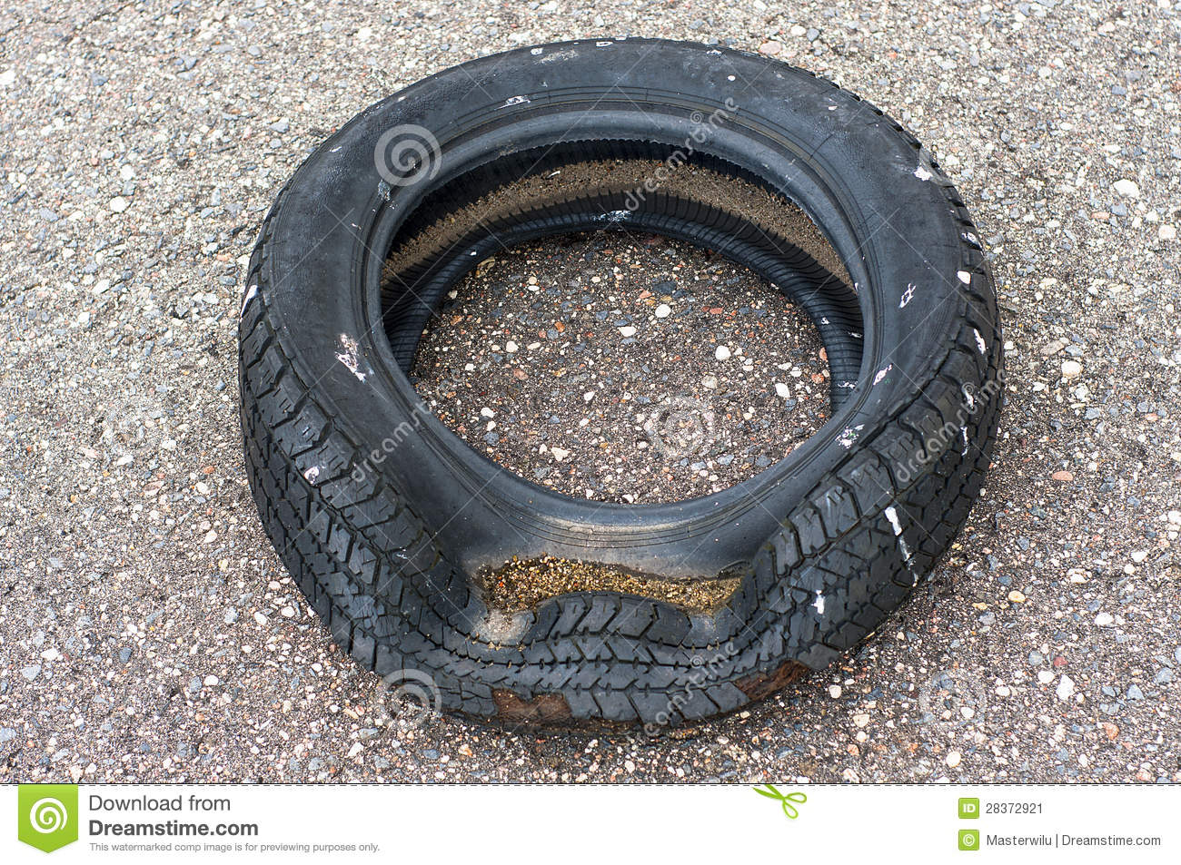 Old wrecked tire stock image image of object obsolete for Old tyre uses