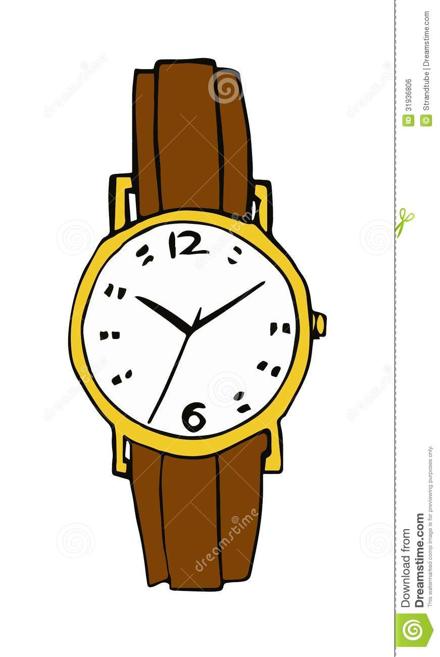Royalty free stock image old wristwatch image 31936806 for Cartoon watches