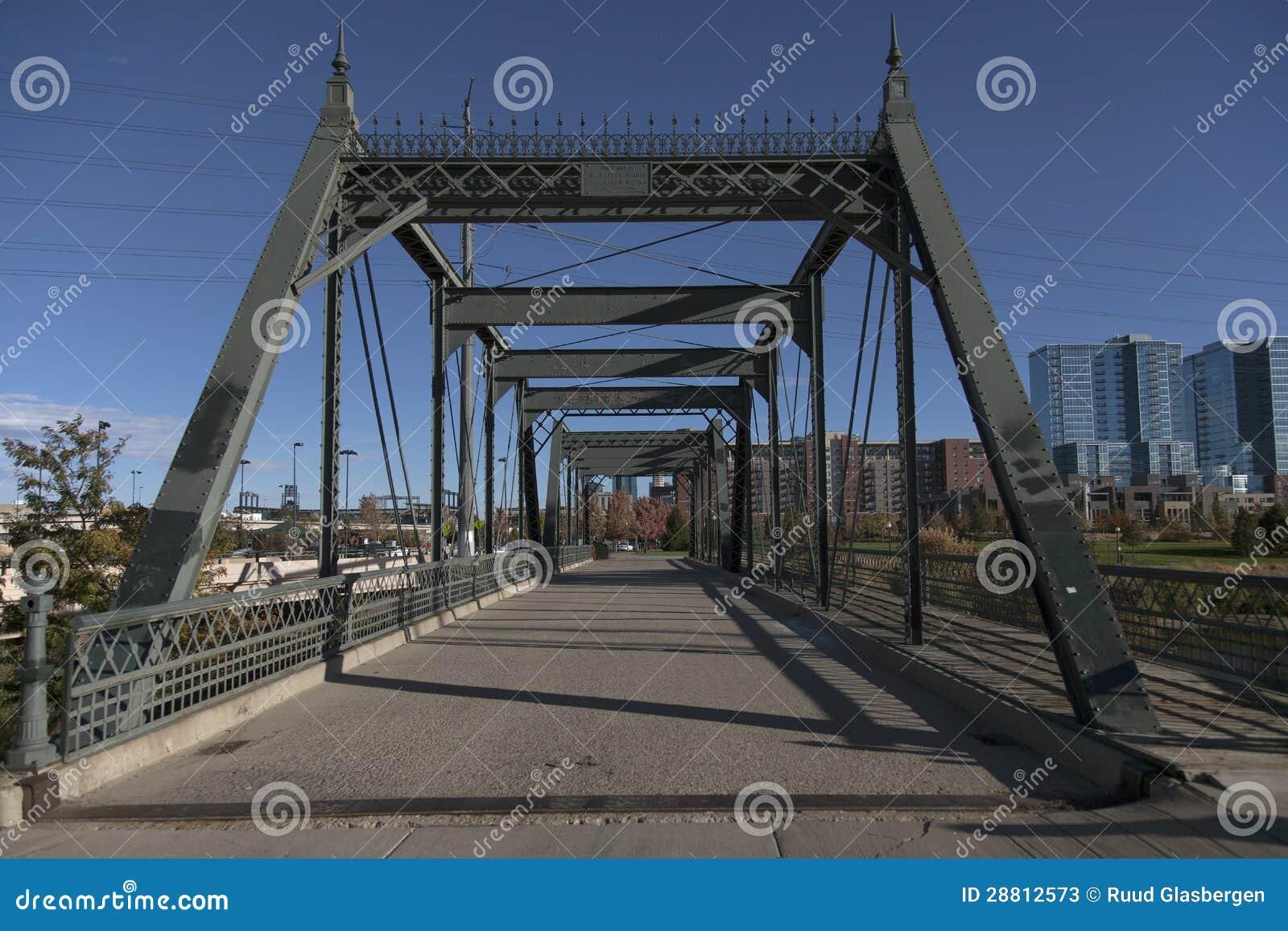 Old Wrought Iron Bridge In Denver Stock Photos Image