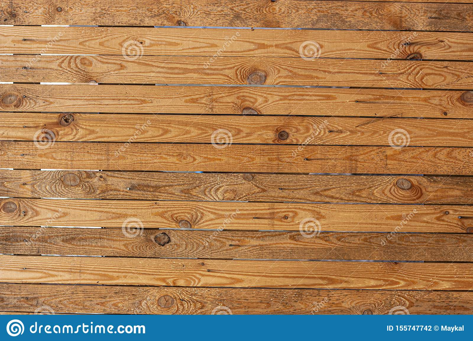 Old Yellow Pine Wood Texture Floor Surface Background Stock