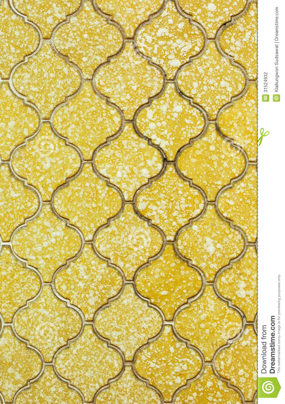 Old Yellow Wall Tile Background Stock Photography Image