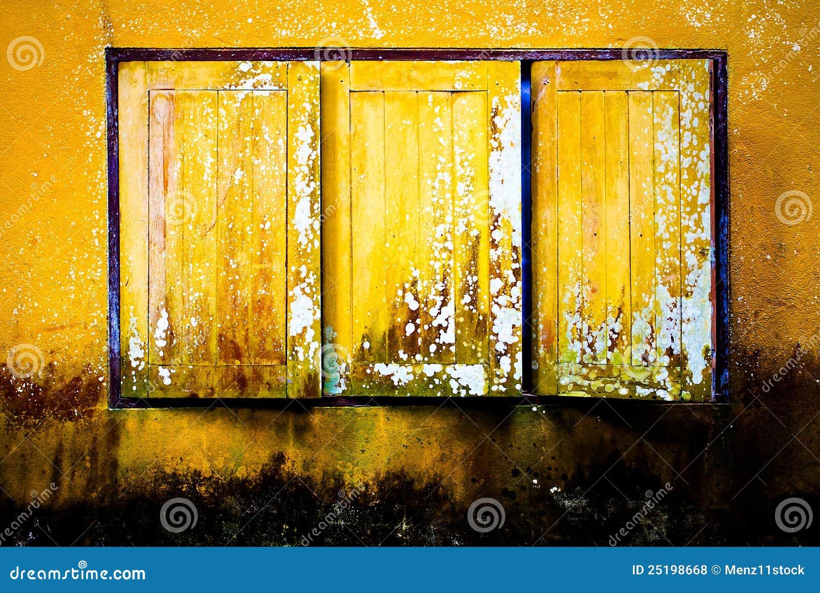 Old yellow window stock photo. Image of peeling, tiles - 25198668