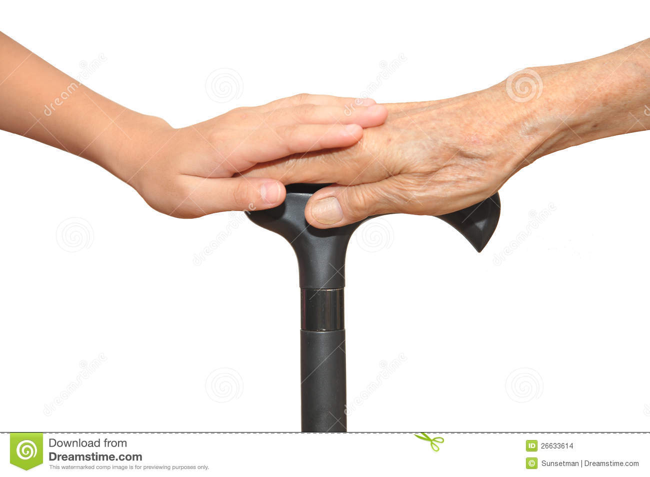 Old and young hands stock images image 26633614