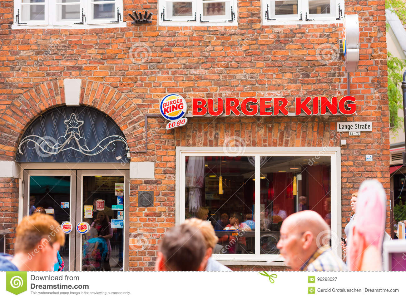 oldenburg germany june 10 2017 view of the facade of the fast food restaurant burger king. Black Bedroom Furniture Sets. Home Design Ideas