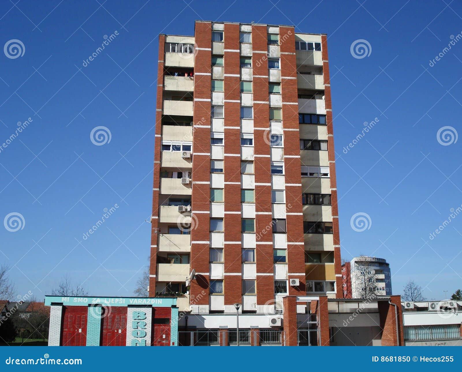 older brick apartment building stock photo image 8681850