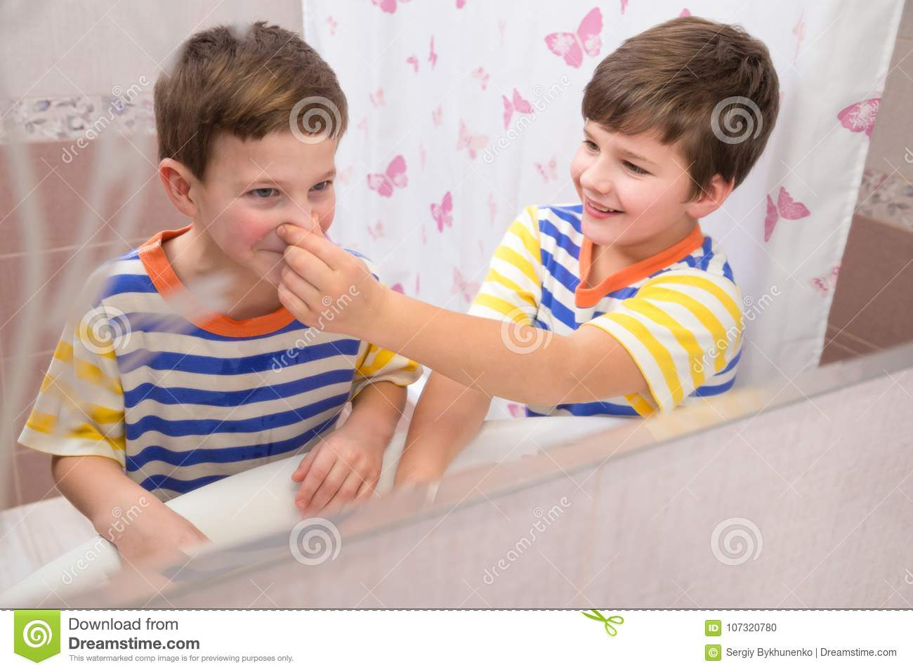 Brother helping brother