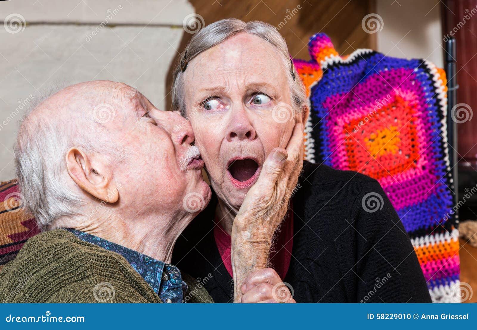 older women kissing