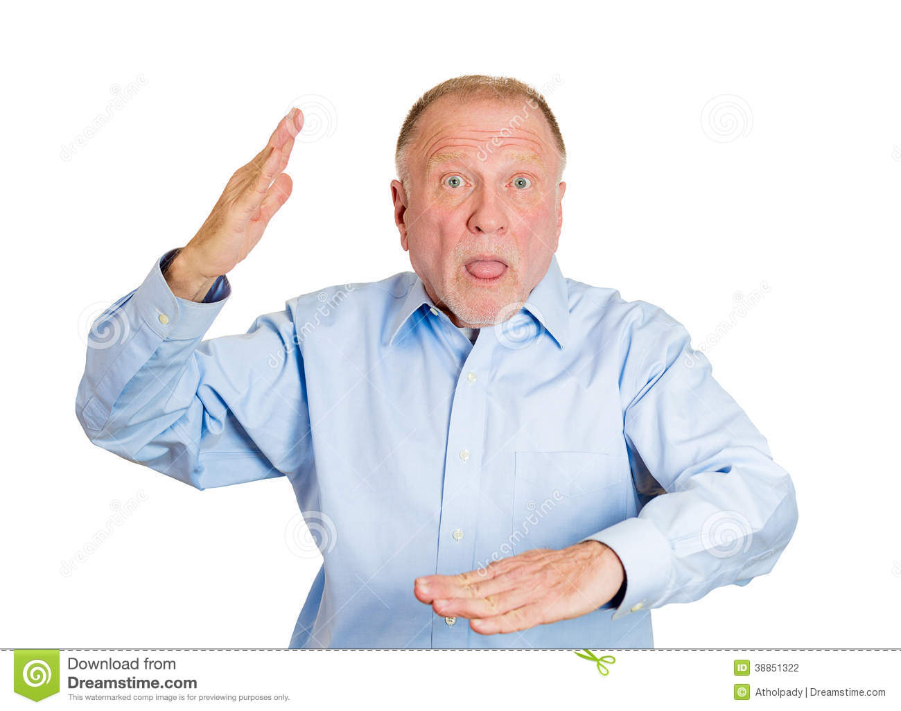 Older Man Attacking With Karate Chop Stock Photo - Image ...