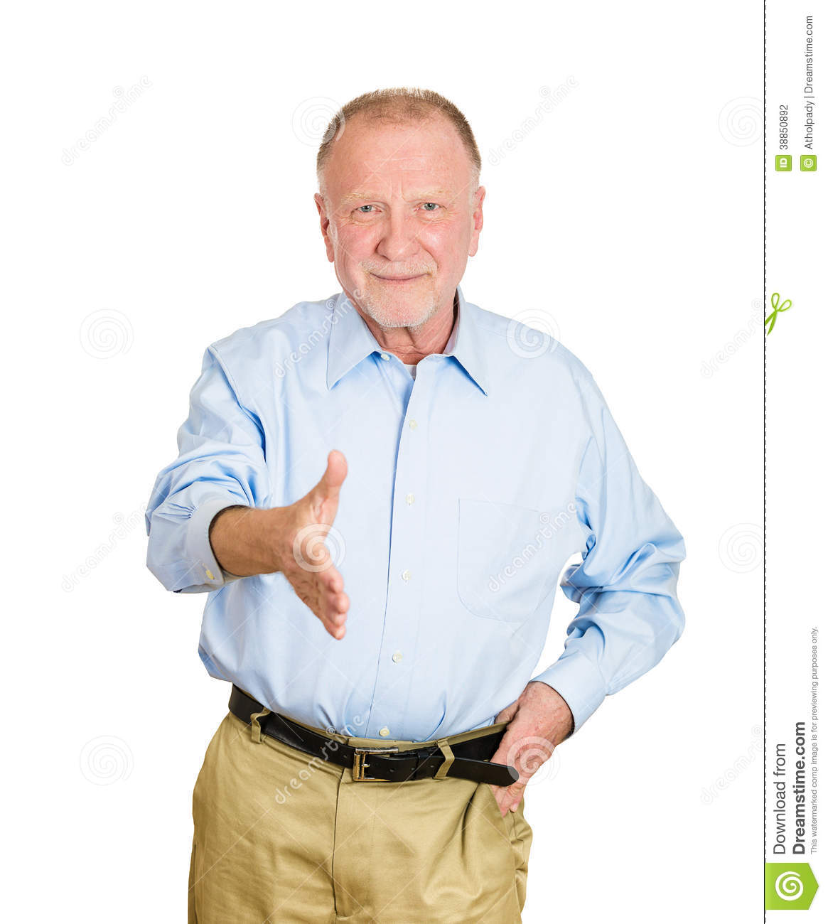 Https Www Dreamstime Com Stock Photography Older Man Giving Handshake Closeup Portrait Senior Mature Smiling Extending Arm You Camera Gesture Isolated White Image38850892