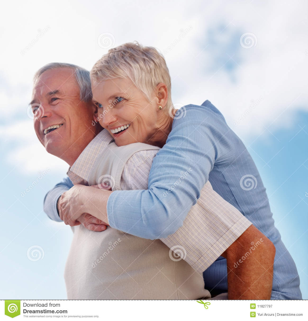 Royalty Free Stock Photography: Older Man Giving Woman