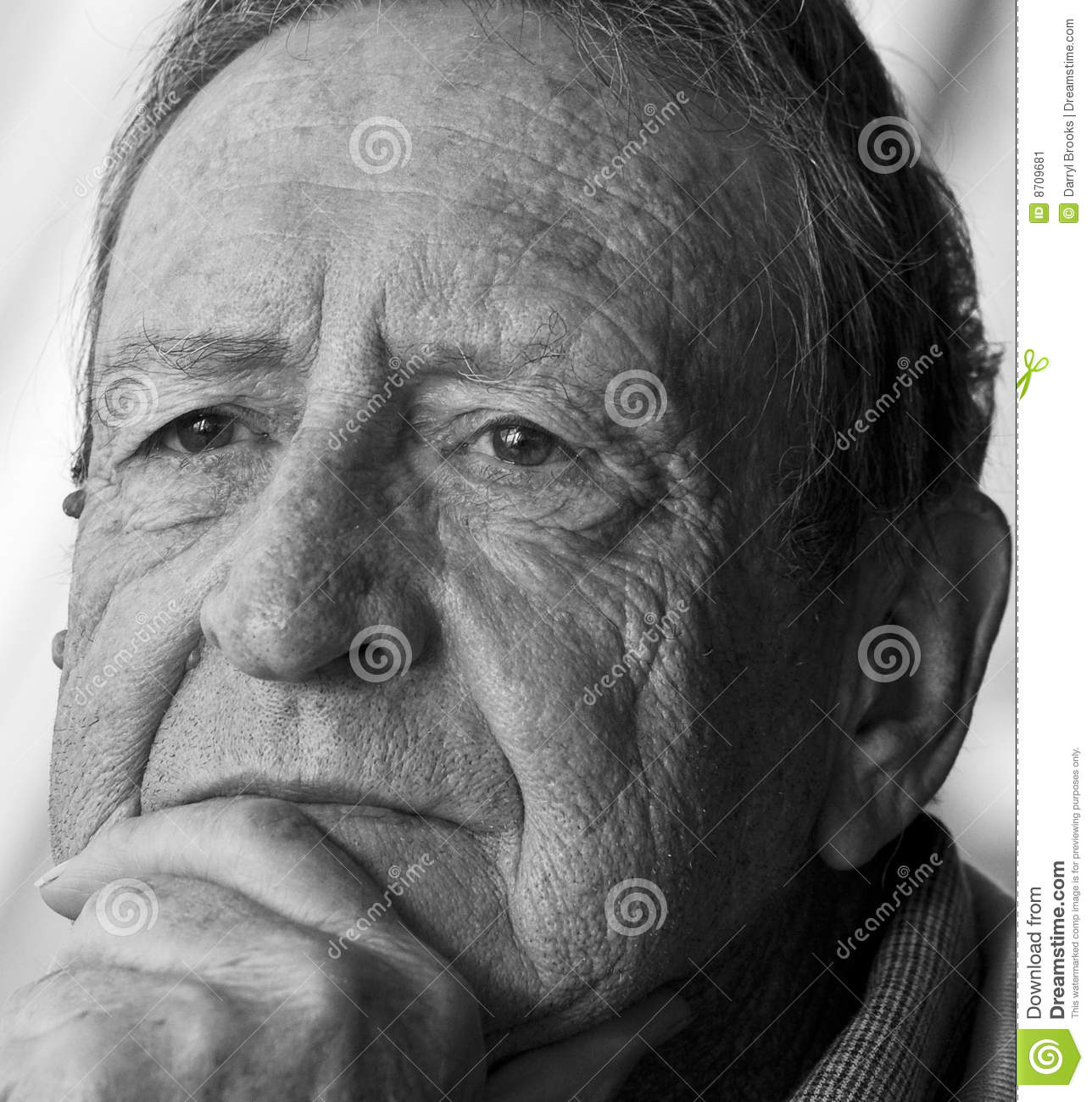 Retirement Colonies Senior Citizens Find A Home Away From: Thinking Older Man Stock Photo