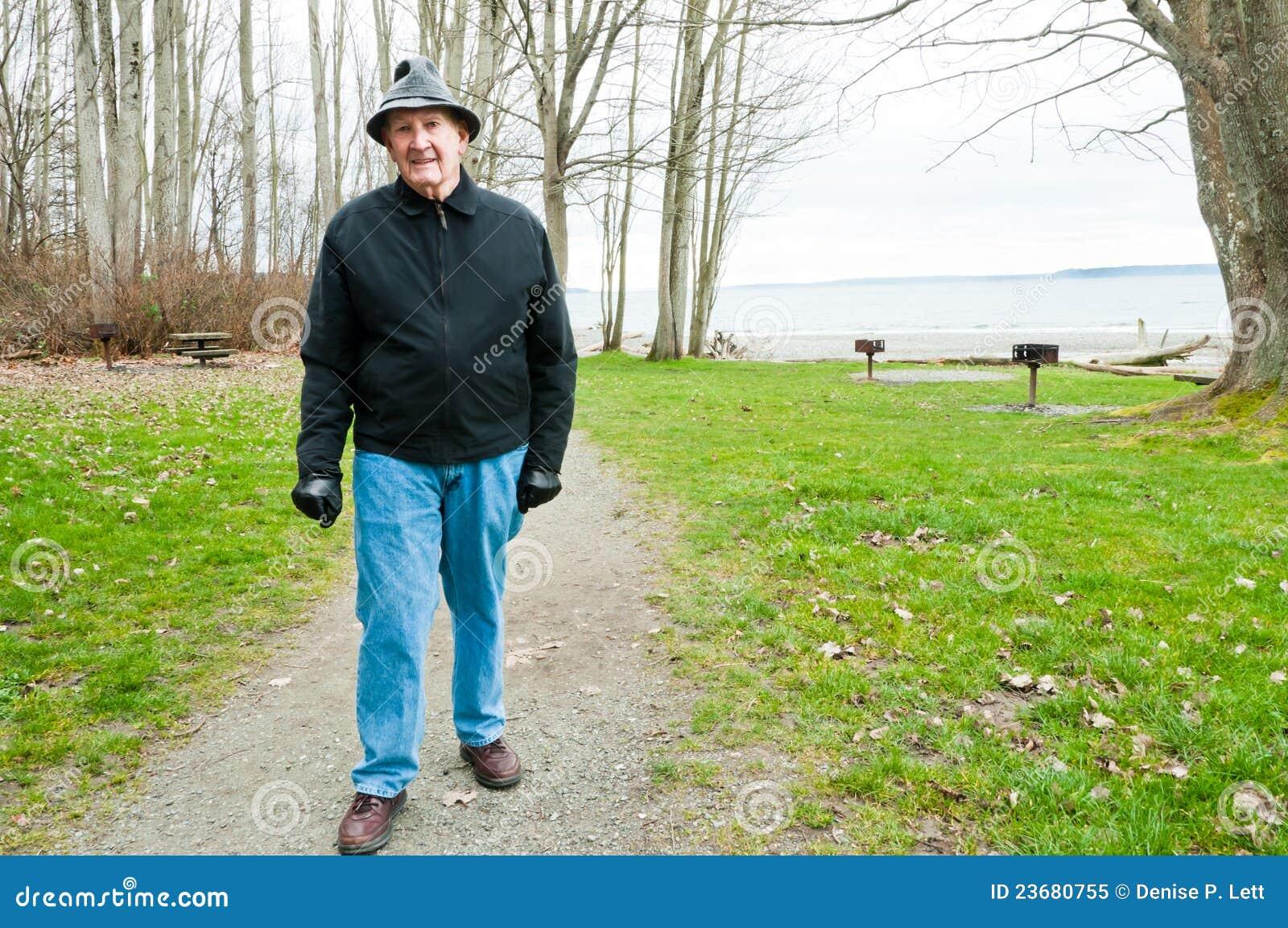 elderly man walking - photo #28