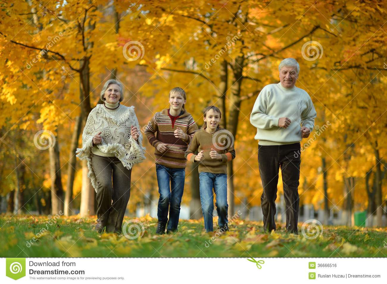older man and woman with grandchildren stock photo - image of