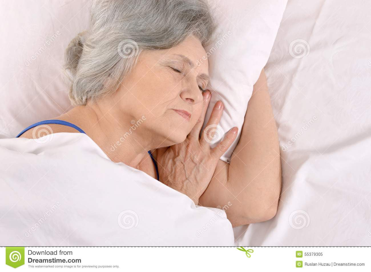 mature woman in bed