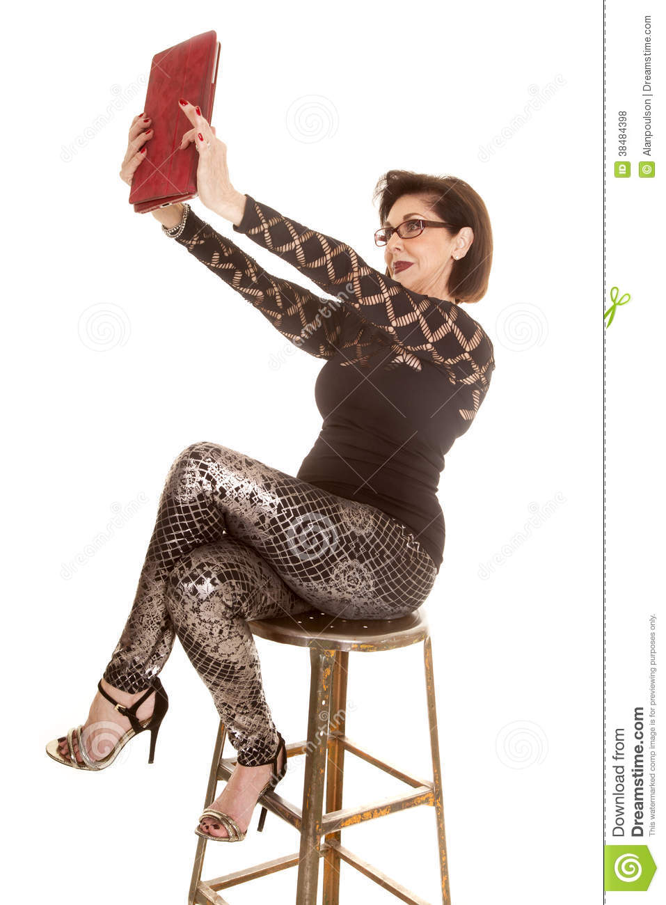 Older Woman Taking Selfie With Tablet Royalty Free Stock -2722