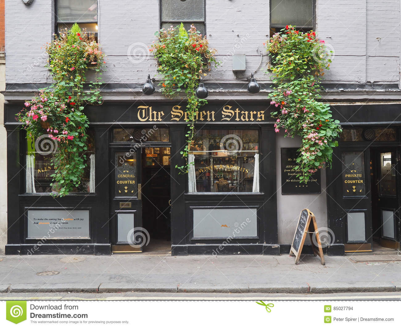 The oldest pub in London editorial stock image Image of