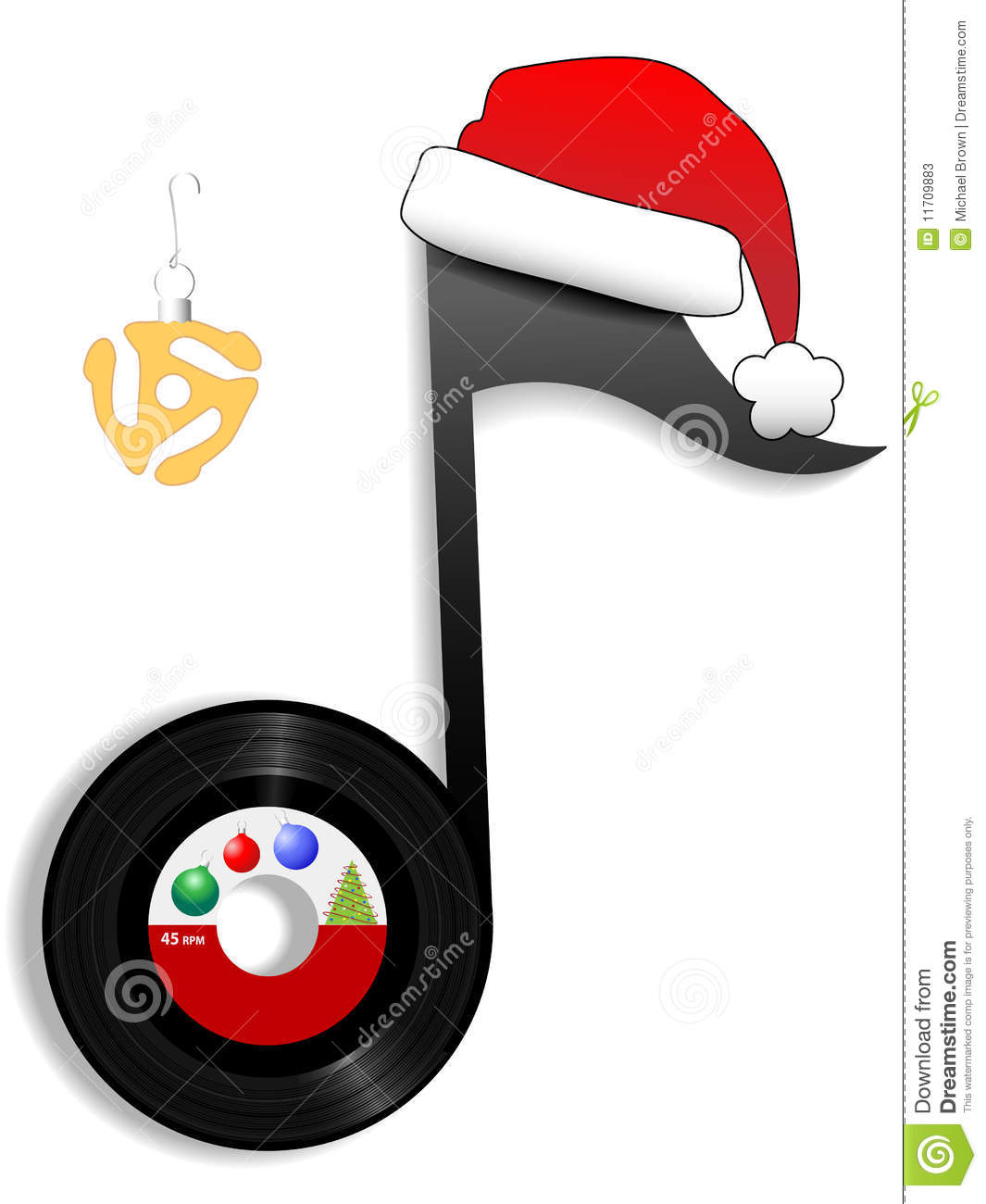 Oldies note for holiday christmas music 1 stock vector for Christmas house music