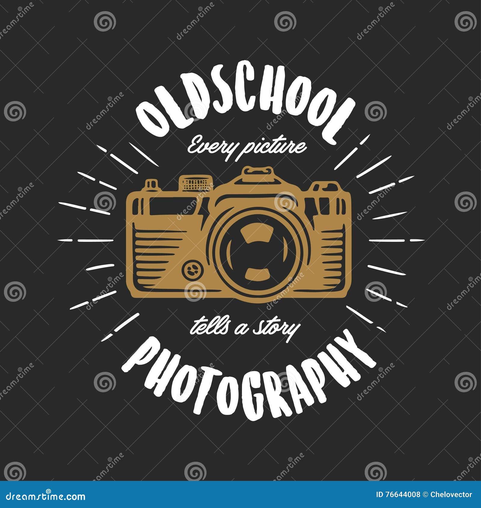 Shirt design vintage - Oldschool Photography Vintage T Shirt Design Vector Illustration Royalty Free Stock Photos