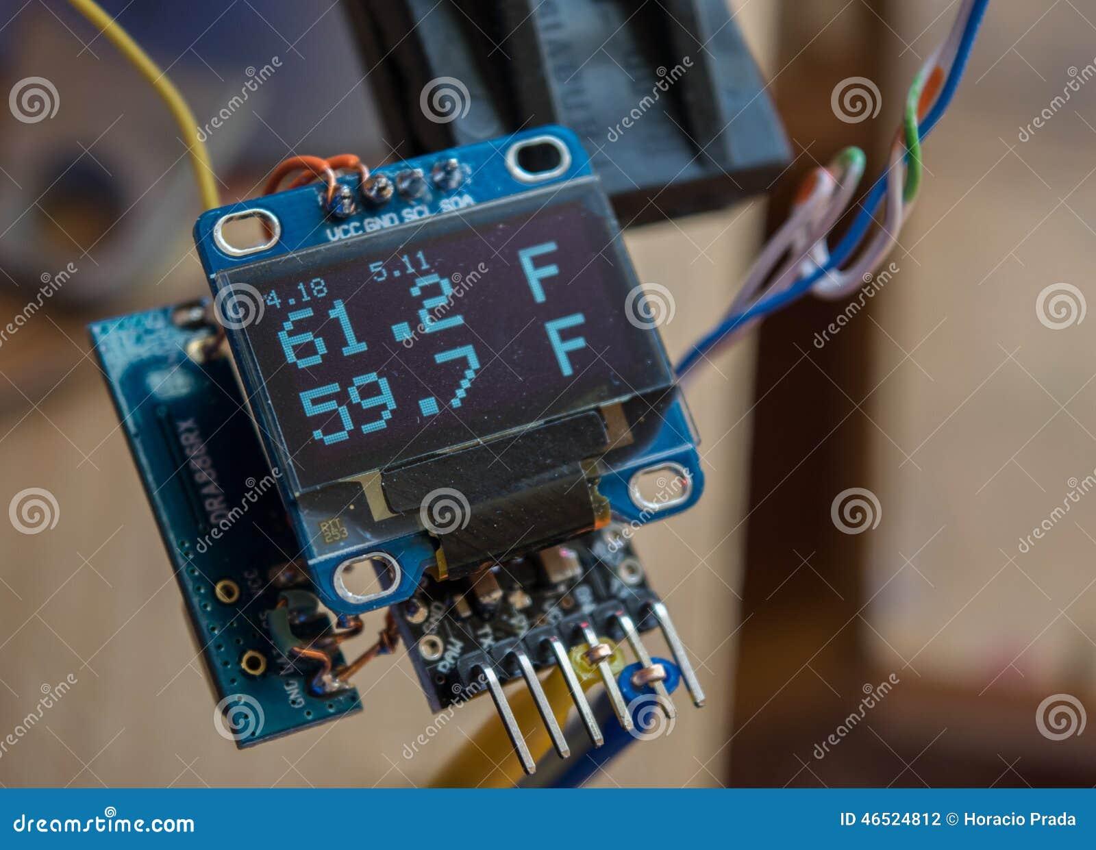 OLED Themometer DIY Stock Photo Image 46524812