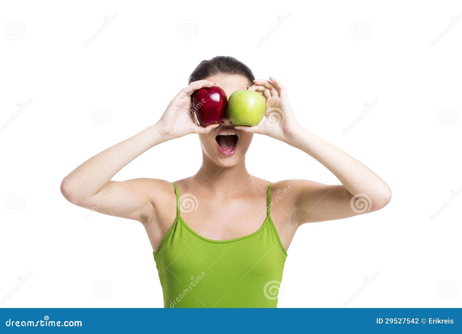 Olhando maçãs