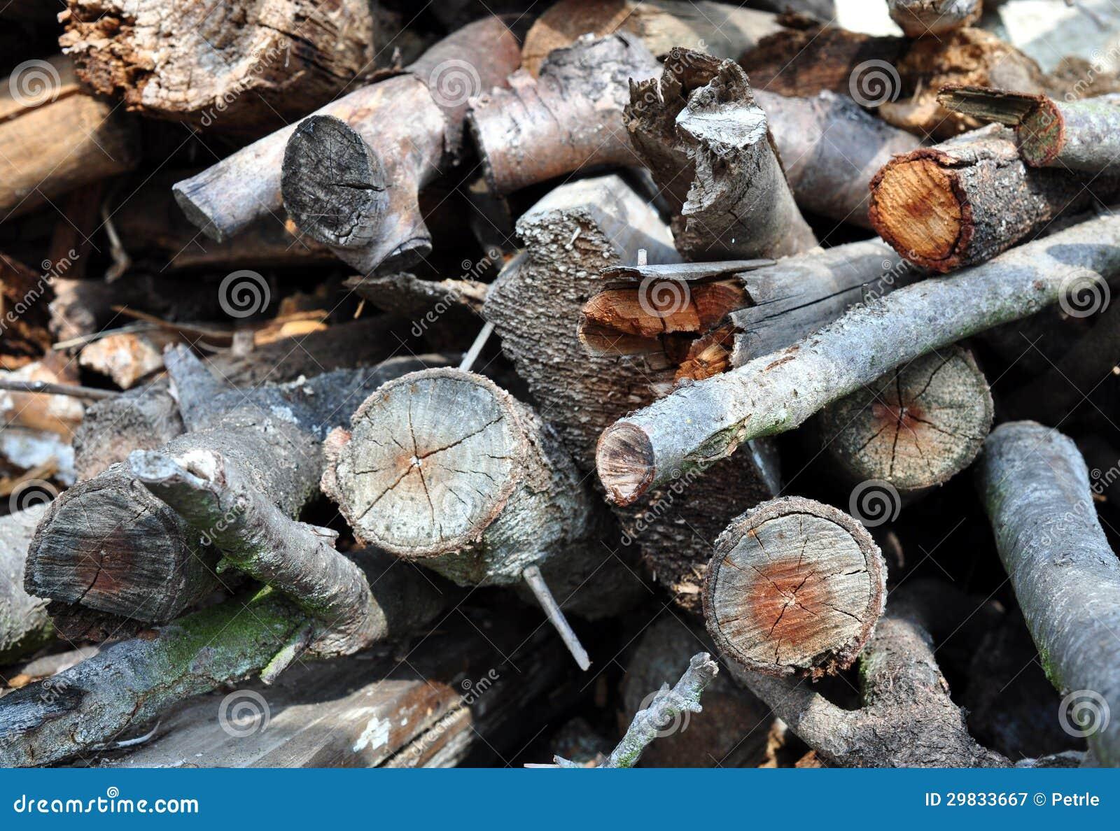 Pilha da madeira