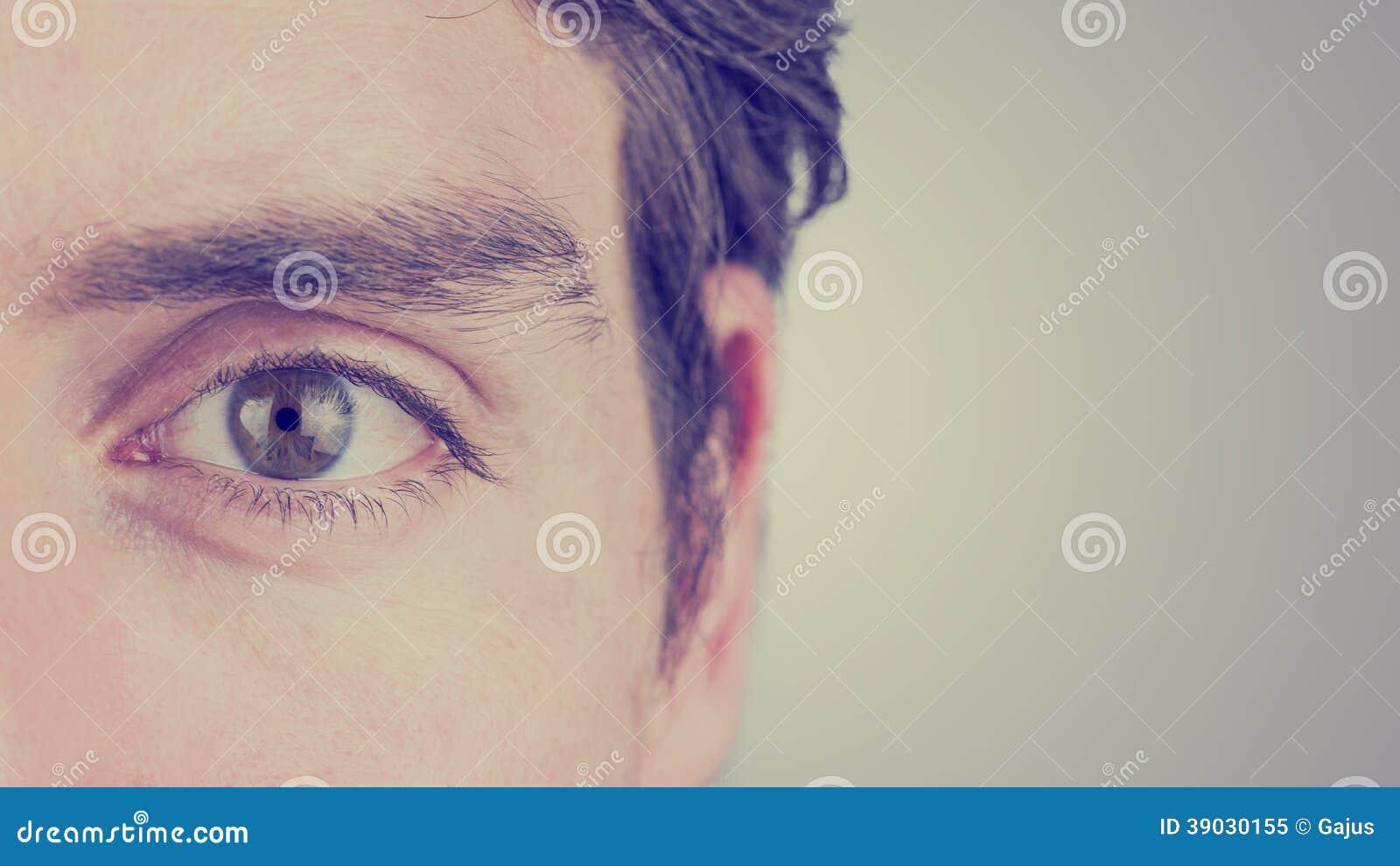 Olho de um homem