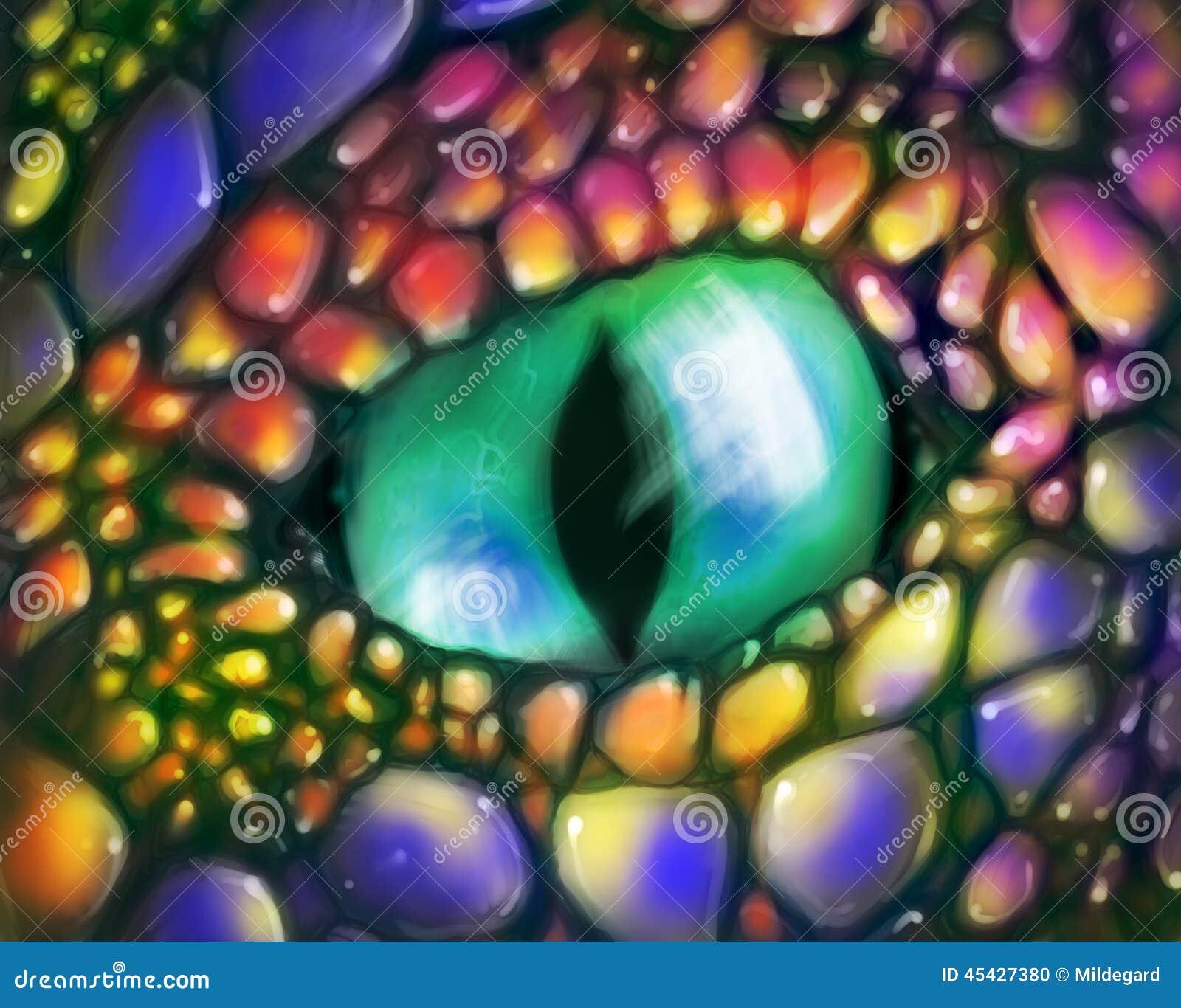Olho do dragão verde