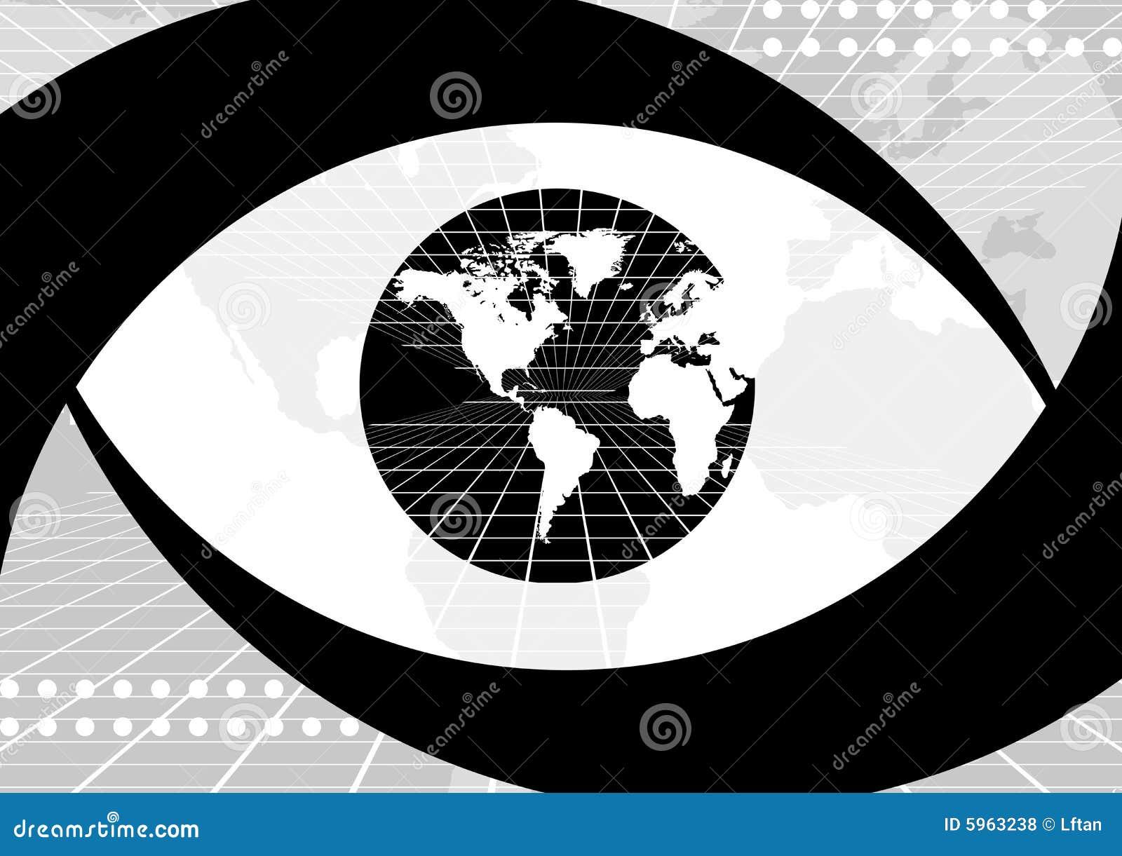 Olho do globo do mundo