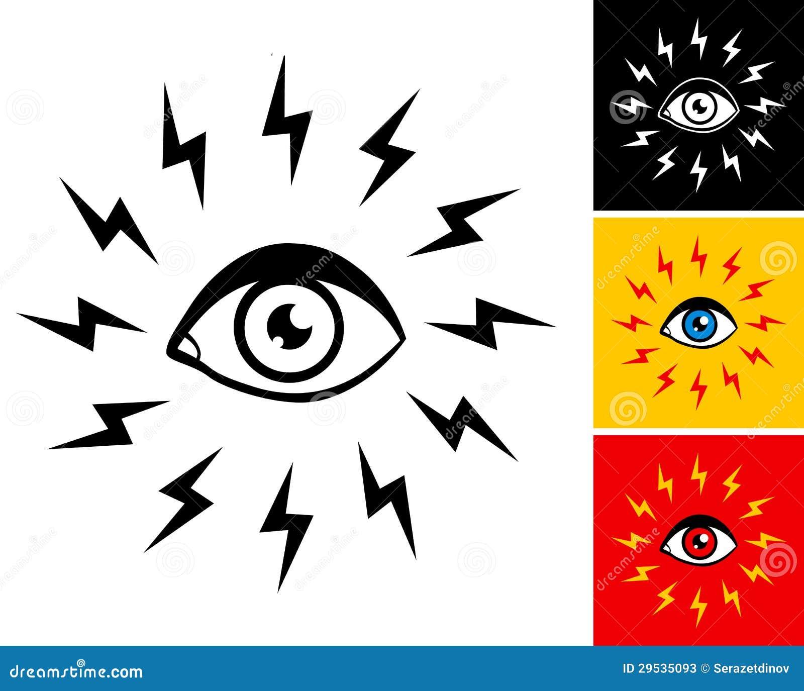 Olho e relâmpago