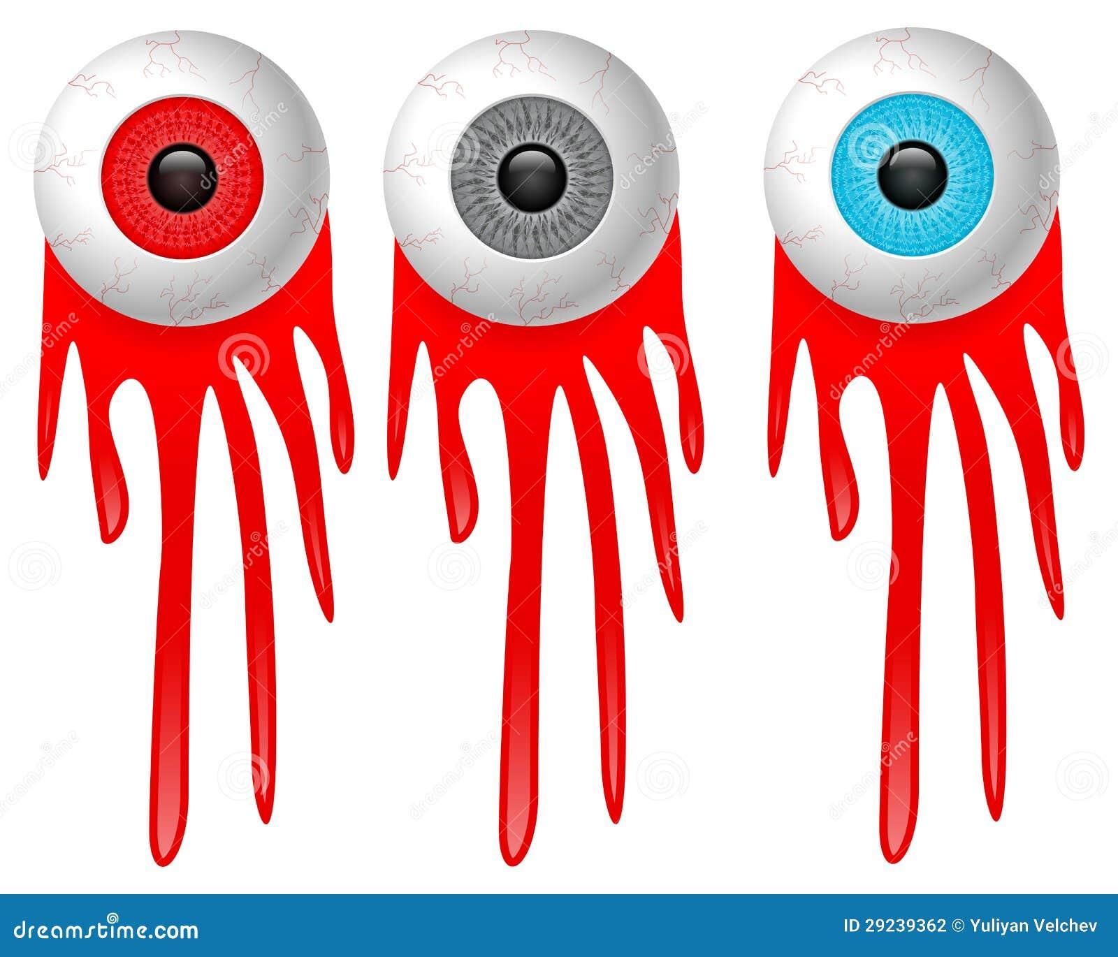 Download Olho e sangue ilustração do vetor. Ilustração de azul - 29239362