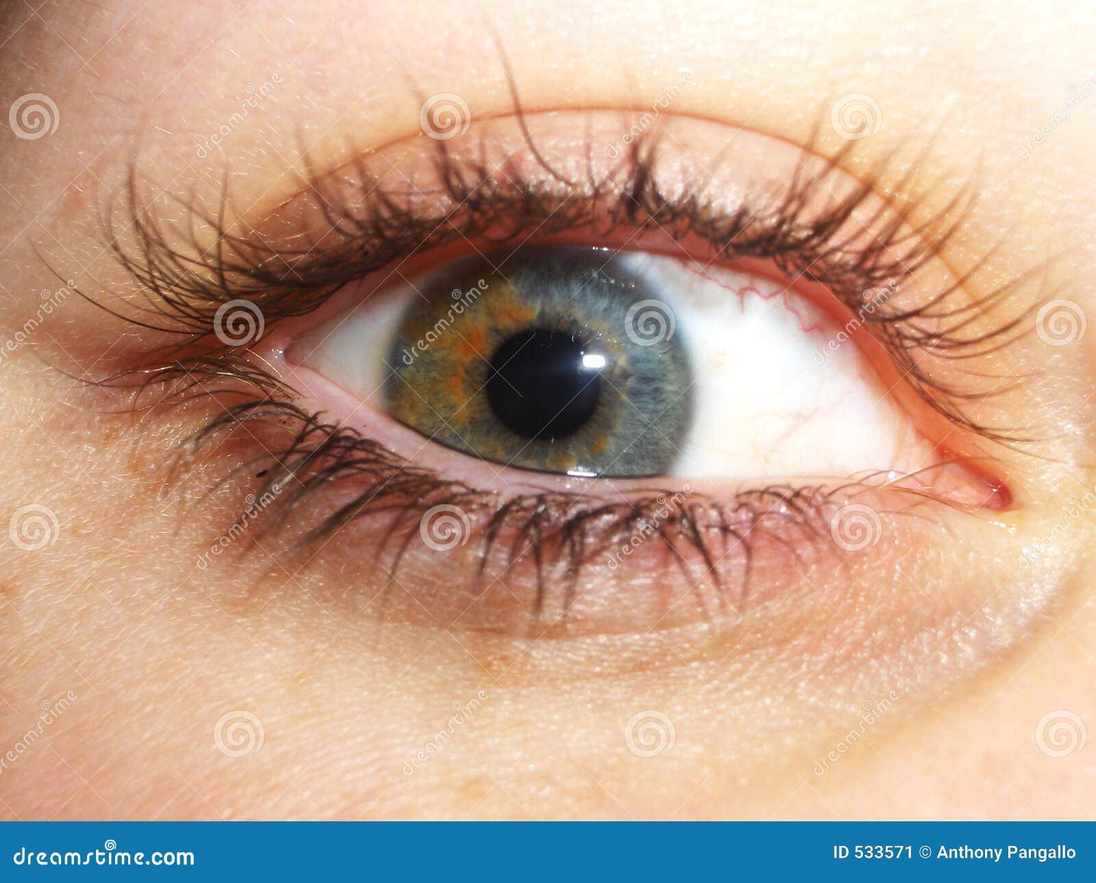 Olho intenso