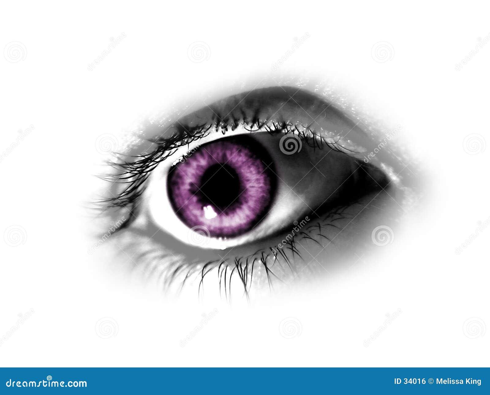 Olho roxo abstrato