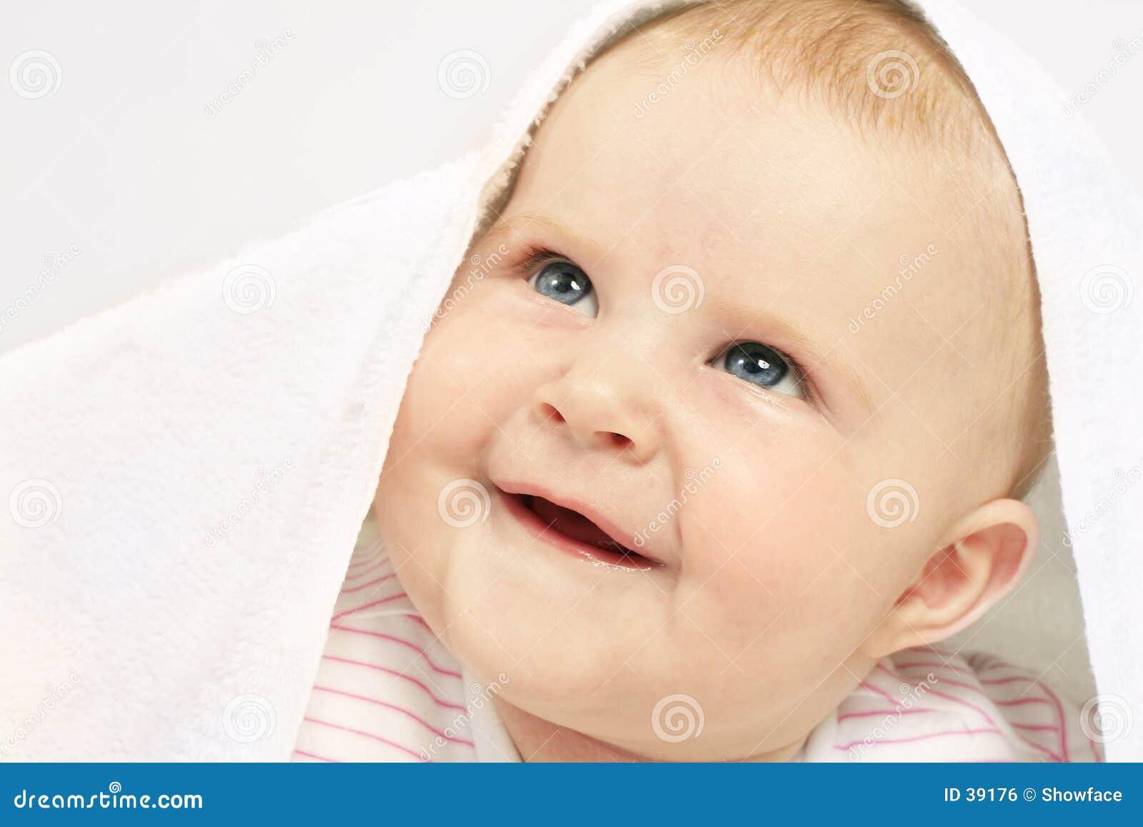 Olhos azuis começ do bebê