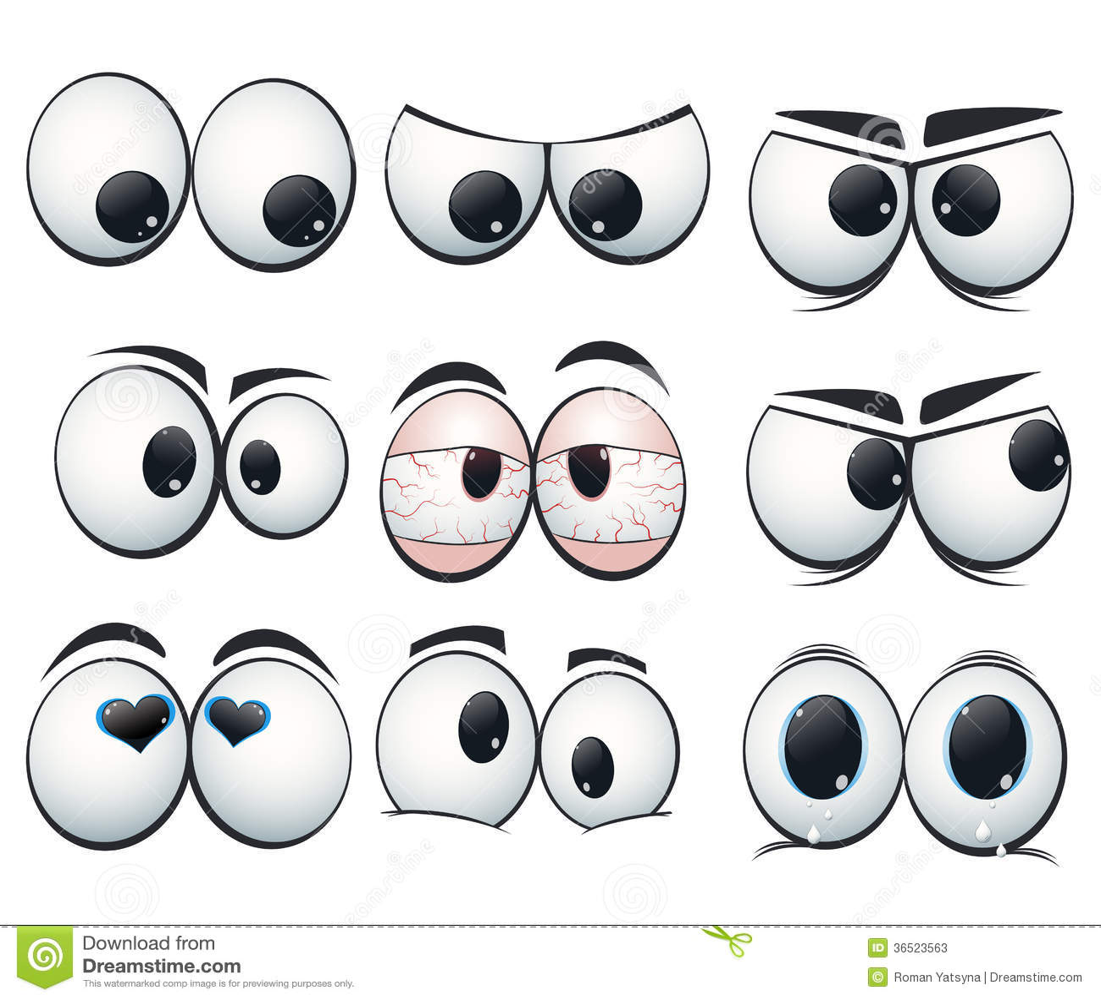 Olhos da express o dos desenhos animados com vistas for Fotos de diferentes marmoles