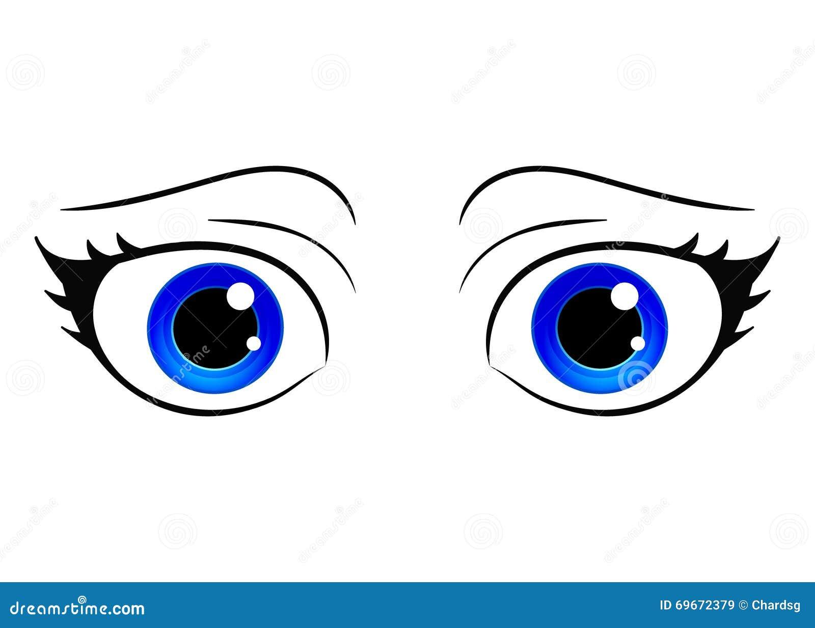 Olhos Do Vetor Olho Da Femea Do Estilo Dos Desenhos Animados Olhos