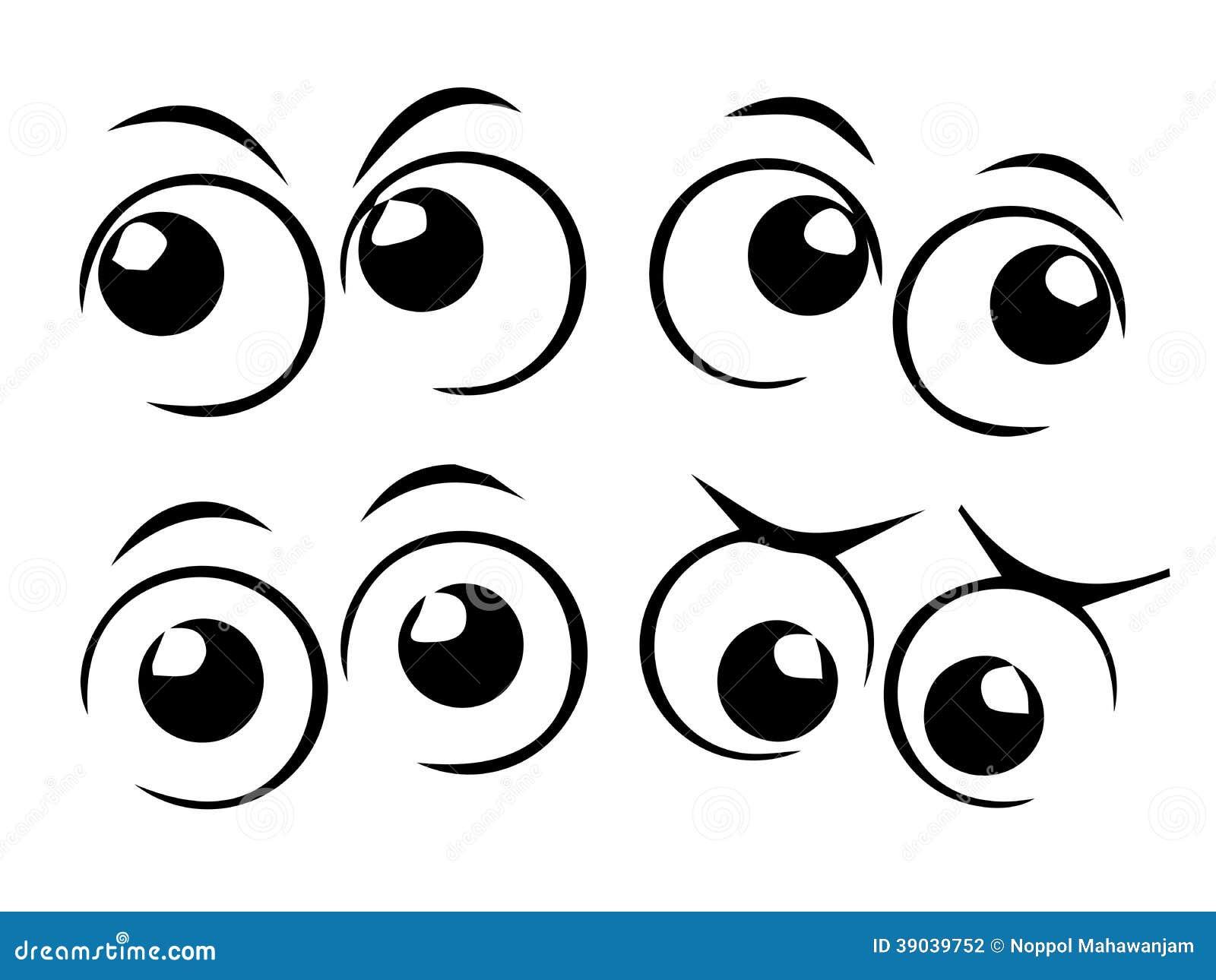 Olhos Dos Desenhos Animados Ilustracao Do Vetor Ilustracao De Desenhos Animados 39039752