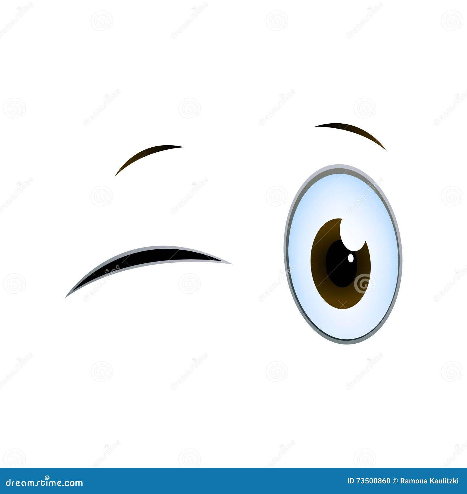 Olhos Dos Desenhos Animados Piscar Ilustracao Stock Ilustracao De Olhos Animados 73500860