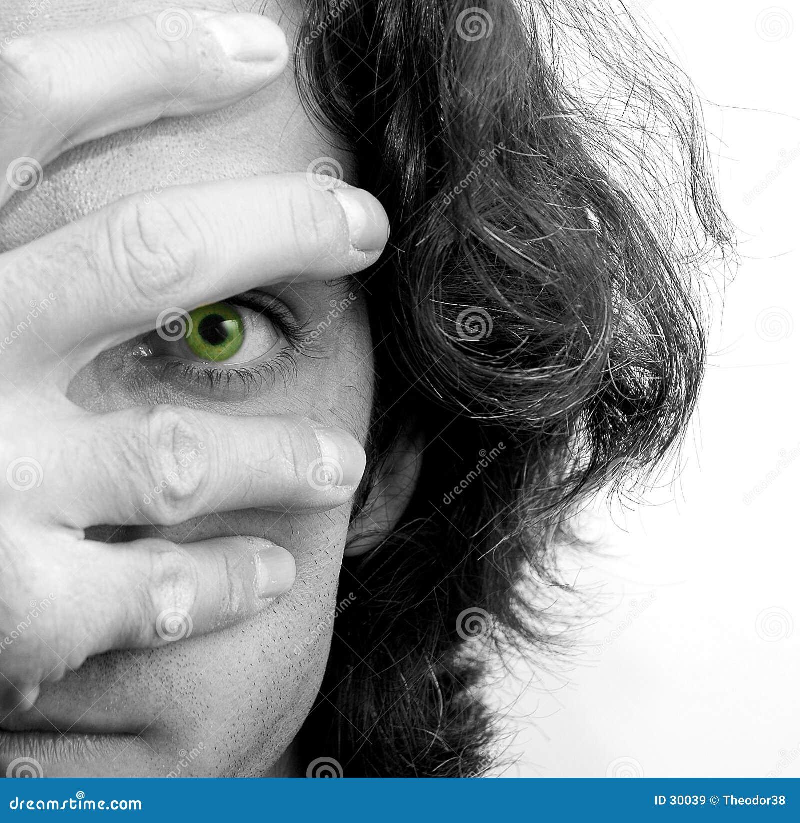 Olhos e mão