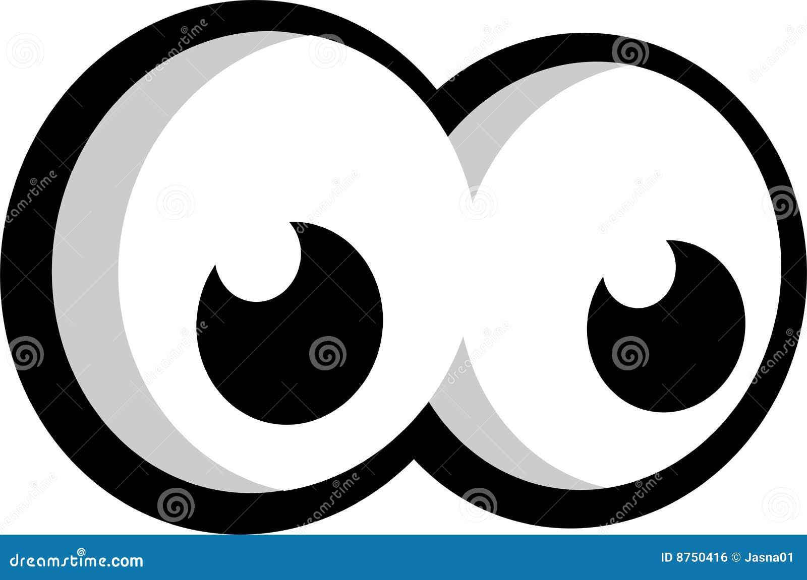 Olhos Grandes Que Olham A Esquerda Ilustracao Stock Ilustracao