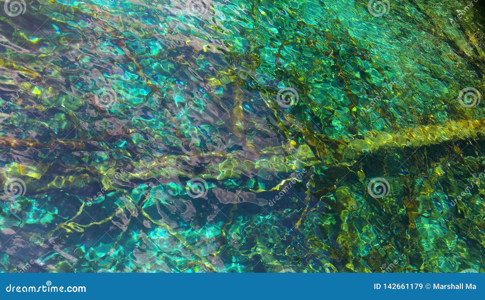 Olie-geschilderd meerwater