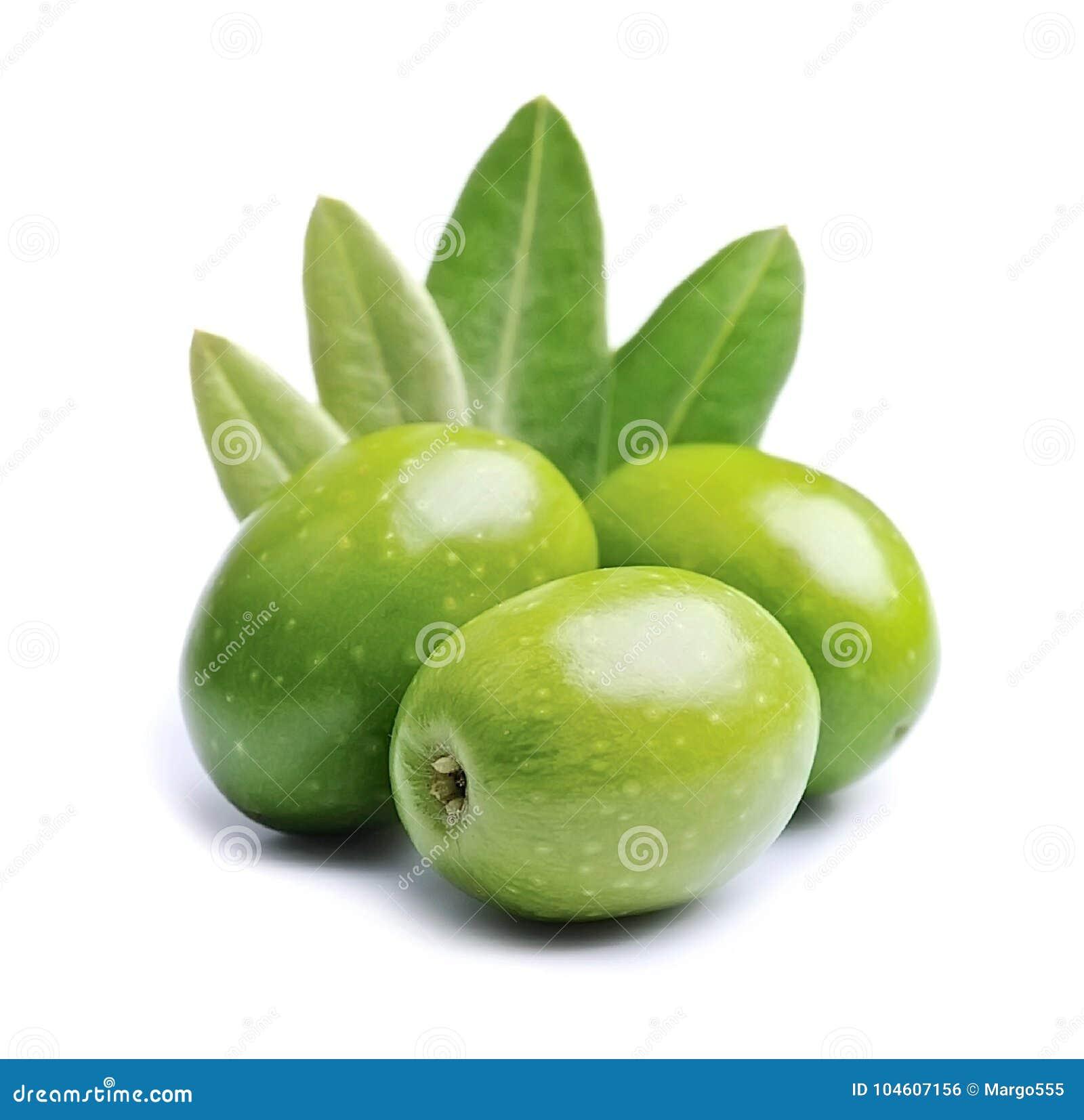 Olijffruit en olijfbladeren