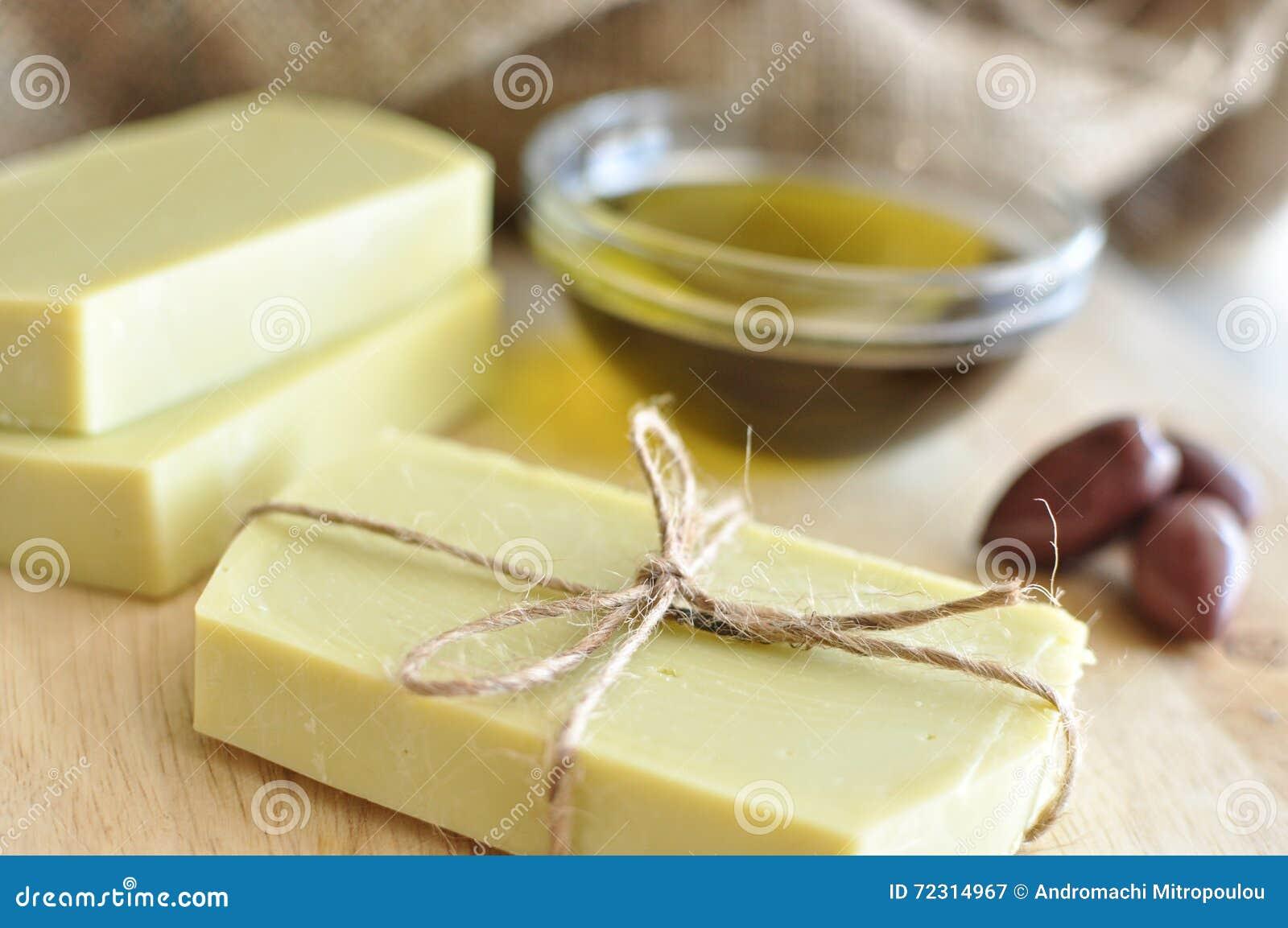 Olijfolie met de hand gemaakte zeep