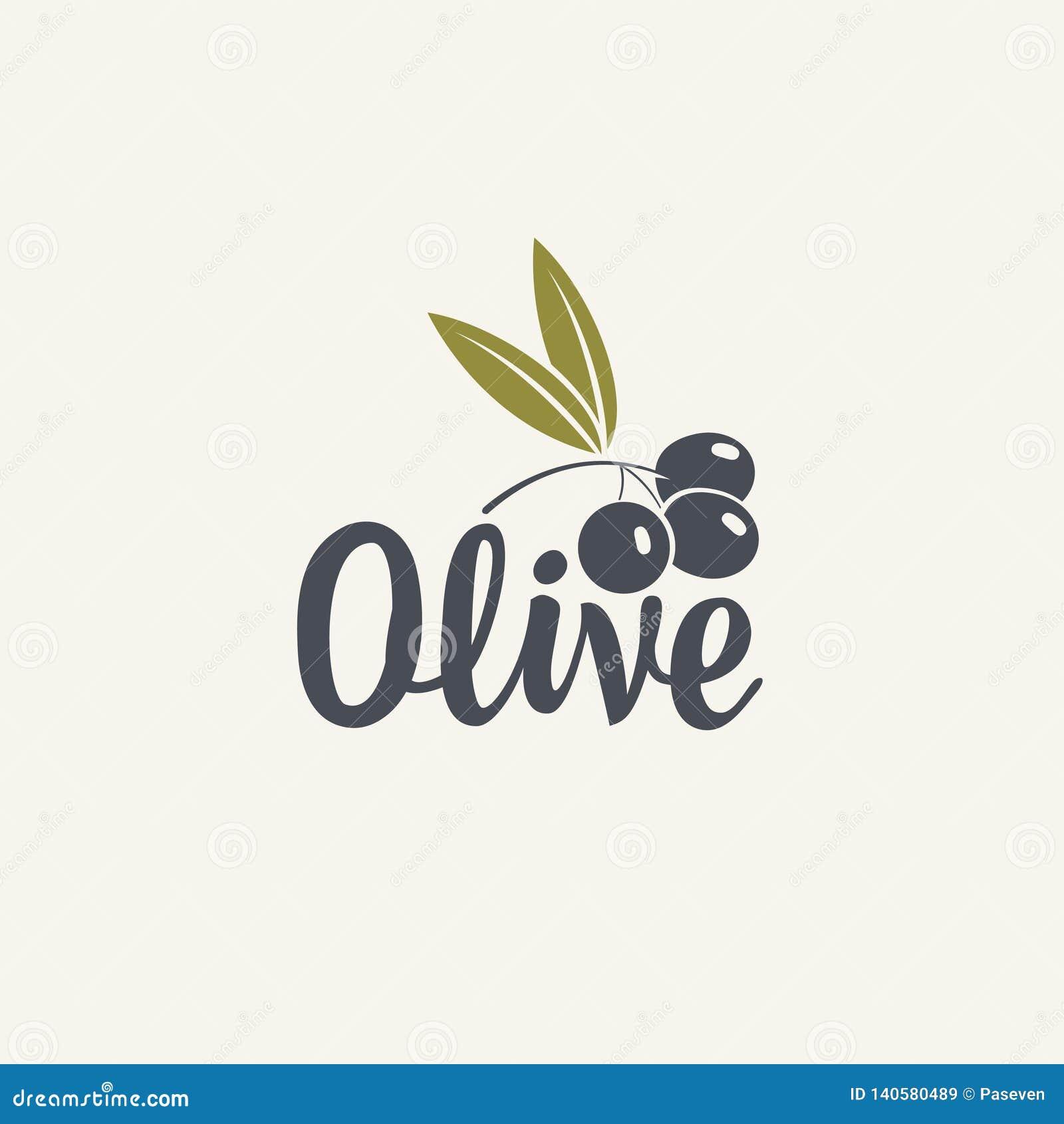 Olijfpictogram of embleem voor olijven of verse olie