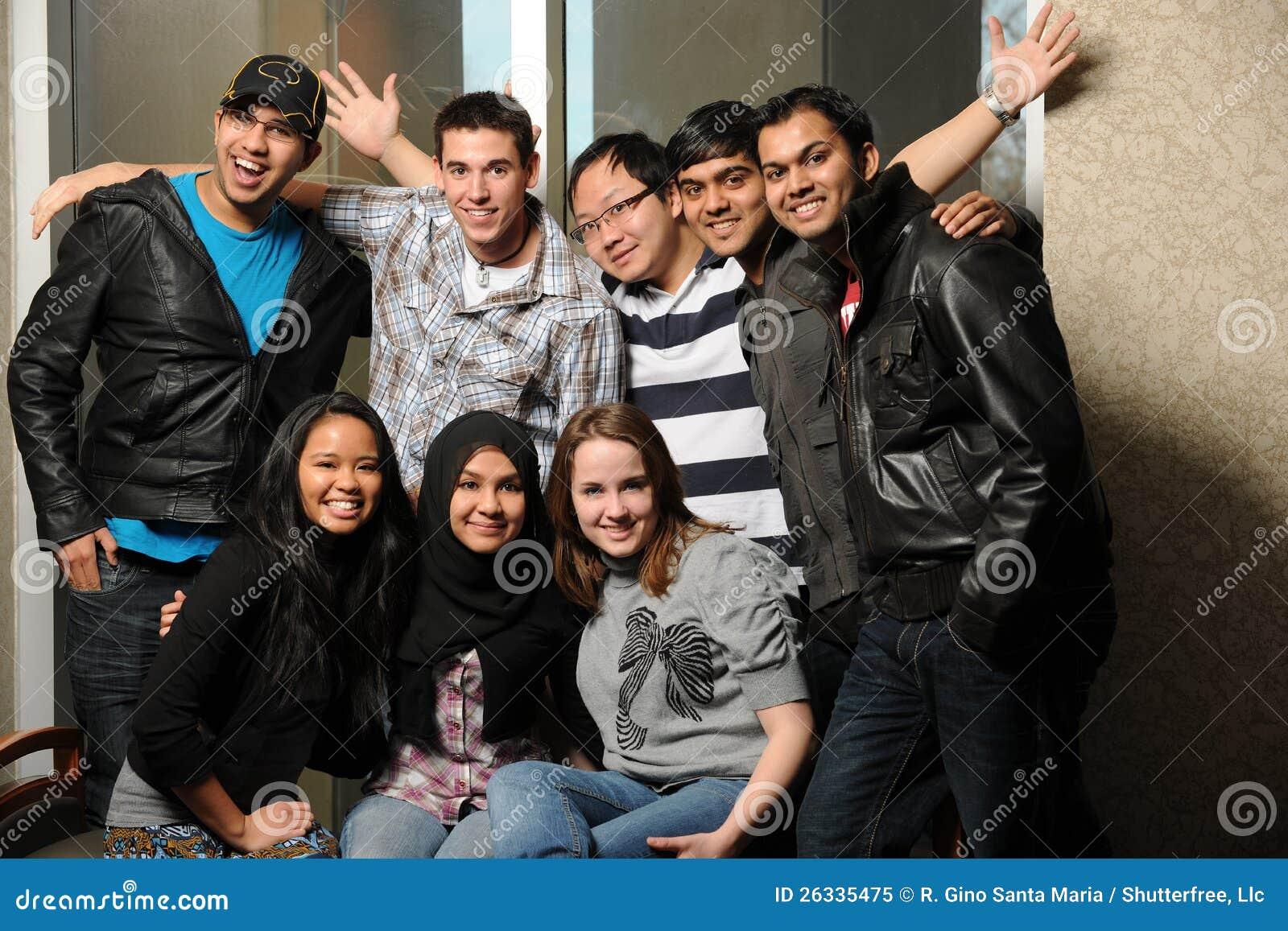 Olik grupp av deltagare